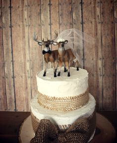 Ivory bridedeer wedding cake topperbride and by MorganTheCreator, $50.00