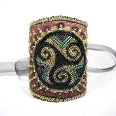 Boudica Corset Style Bead Embroidered Cuff by sylviawindhurst, via Flickr
