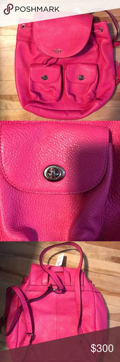 Coach backpack PBLB LTH BLLE BCKPC  hot pink Coach Bags Backpacks