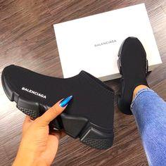 Balenciaga Sneaker shoes, and black All Black Balenciaga, Black Balenciaga Sneakers, Balenciaga Shoes Price, Balenciaga Runners, Balenciaga Designer, Cute Shoes, Me Too Shoes, Comfy Shoes, Sneakers Fashion