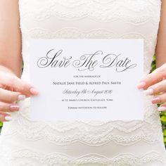 Elegant Script Save the date, Calligraphy Invitations, Classical Wedding Invites, Sophisticated Wedding, Elegant Wedding