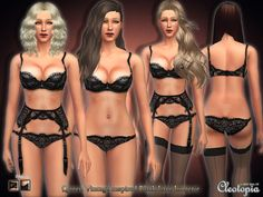 Sims 4 CC's - The Best: Underware for Woman by Cleotopia