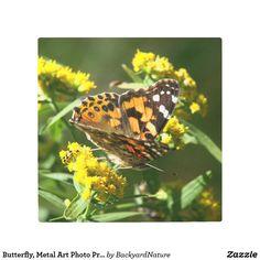 Butterfly, Metal Art Photo Print.