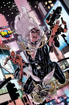 Black Cat, Spider-man & Deadpool byTerry Dodson