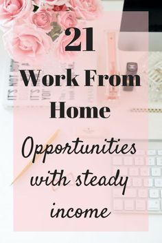 Work From Home Opportunities including data entry, surveys, make money blogging, open your own ecommerce store and many other options! #workfromhome #surveys #onlinestore #dataentry