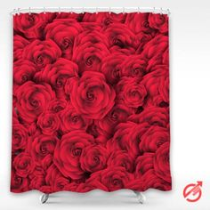 Roses Shower Curtain #decorative #bathroom #curtain #gift #present #favorite