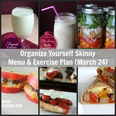 Organize Yourself Skinny Menu and Exercise Plan. Family Friendly delicious healthy recipes. Make ahead and freeze instructions included with recipes. Healthy Freezer Meals, Healthy Menu, Make Ahead Meals, Healthy Foods To Eat, Healthy Life, Healthy Recipes, Healthy Exercise, Meal Prep For Beginners, Meal Prep For The Week