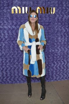 Anna Dello Russo attends the Miu Miu show as part of the Paris Fashion Week Womenswear Fall/Winter 2017/2018 on March 7 2017 in Paris France
