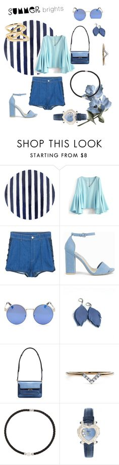 """BLUE"" by allyson-tavera-fortuno ❤ liked on Polyvore featuring Kate Spade, Chicwish, Alexander McQueen, Nly Shoes, Marni, Diamonds Unleashed, DaVonna, Chopard and Jennifer Fisher"