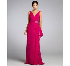 Badgley Mischka fuchsia, mother of the bride