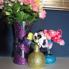 Make Fun Glitter-Decorated Vases and Bottles | Guidecentral