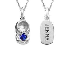 This Engravable Charming Shoe Mother-Family Gemstone Pendant can be personalized with 1 astontishing round gemstone. Sku: ME-F194