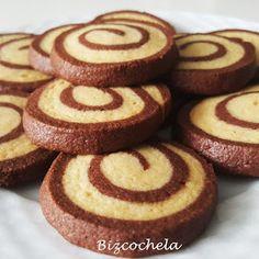 Galletas en Espiral de Vainilla y Chocolate