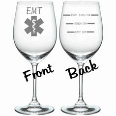 Etched EMT Glass Set of 2 FUNNY Chose from by WulfCreekDesigns, $29.95