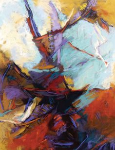 """Get Out of Your Own Way: Make Abstract Art! Painting by Debora Stewart, author of """"Abstract Art Painting"""" 