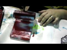 Gelatin Mask Technique by Julie Balzer - printing with stencils on gelli plate http://balzerdesigns.typepad.com/ #art_techniques #video #tutorial