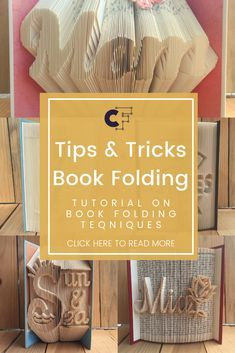 6 easy techniques how to master book folding Want to learn how to book fold? In Creative Fabrica's tutorial crafter Danielle from PreMadeReMade walks you through her best tips & tricks on how to book fold like a pro. Recycled Book Crafts, Old Book Crafts, Book Page Crafts, Book Page Art, Book Folding Patterns Free Templates, Book Sculpture, Paper Sculptures, Folded Book Art, Book Projects