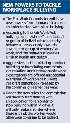 Australia gets serious about workplace bullying                                                                                                                                                                                 More