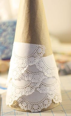 Lace Doily Christmas Tree