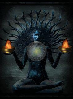 wicca wiccan pagan world goddess kali photo Chakras, Yoga Kundalini, Psy Art, Sacred Feminine, Divine Feminine, Dark Moon, Moon Goddess, Divine Goddess, Mother Goddess