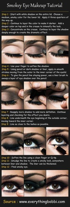 Here is a great tutorial for a smokey eye and the colors are available with Mary Kay's Mineral Eye Color collection. And remember; a smokey eye can be from Coals to Grey's and Brown's. Contact me at www.marykay.com/jdemedeiros or if you have a question, you can can contact me right here on Pinterest.