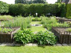 Medieval garden in Bois Richeux, France