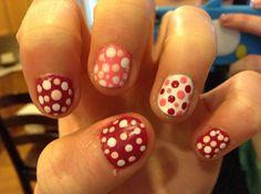 Cute valentines day poka dots done by julia