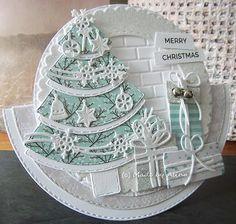 Made by Alina: Merry Christmas! Chrismas Cards, Christmas Card Crafts, Christmas Cards To Make, Christmas Tag, Xmas Cards, Christmas Greetings, Holiday Cards, Christmas Ideas, Side Step Card