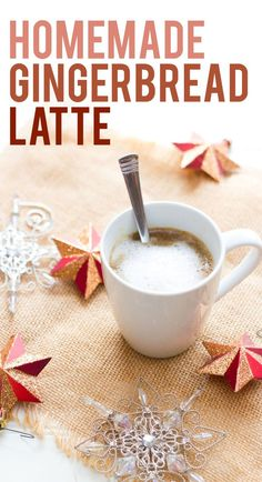 Homemade Gingerbread Latte... Skip the coffee shop and celebrate the holidays with this easy homemade gingerbread latte recipe.