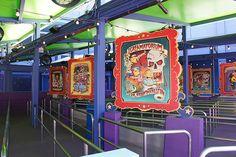 The Simpsons Ride - Theme Signage -  Universal Studios. California.