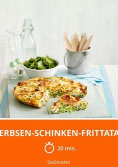 Erbsen-Schinken-Frittata