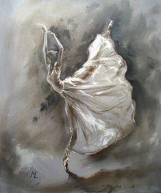 Monika Luniak - Paintings for Sale Ballerina Kunst, Ballerina Painting, Ballet Drawings, Art Drawings, Dance Paintings, Ballet Art, Dance Photography, Painting Inspiration, Amazing Art