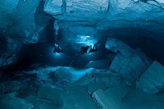 Orda Cave - the biggest underwater gypsum cave in the world. It is located near Orda village (Perm region, Russia)