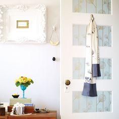 How to wallpaper door panels