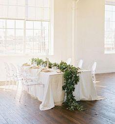 Fresh Flower Runners / Wedding Style Inspiration / LANE