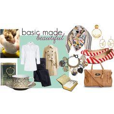 basic made beautiful, created by #hidden-fashionista on #polyvore. #fashion #style #Mango J.Crew