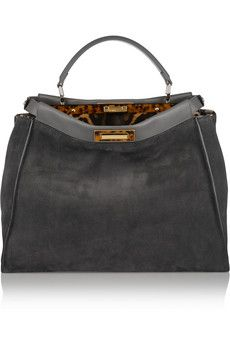 Fendi Peekaboo medium suede tote is so luxurious made with ash grey suede. A modern classic. Wear it against slim pants and a crisp white shirt. Worth every penny! £3,440.00