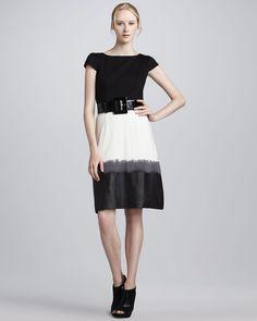 c868a01e66 Alice + Olivia Lexi Colorblock Ombre Dress
