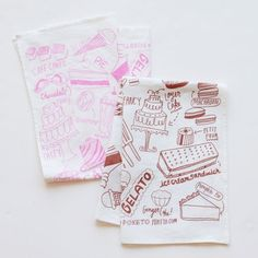 Dessert tea towels by Poketo -- fabulous!