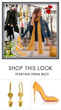 """set 34"" by fahirade ❤ liked on Polyvore featuring ANNA, MELLOW YELLOW, Christian Louboutin and MAC Cosmetics"