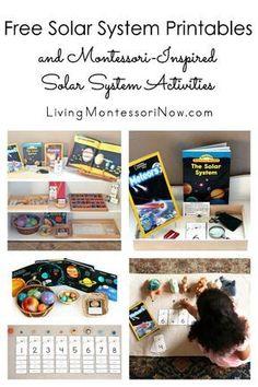 Free Solar System Printables and Montessori-Inspired Solar System Activities Montessori, Solar System Activities, Sistema Solar, Free, Printables, Inspired, Inspiration, Preschool Age, Classroom