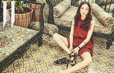 In the April edition of W Korea, Jung Ryeo Won gets comfortable in boho chic clothing that feature her lean legs and a number of her Isabel Marant shoes. Check it! Source | N...