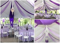 15 graduation party tent decorating ideas, canopy party decorating ideas image sublime chair with footrest gallery Purple Birthday, Purple Party, Purple Wedding, 21st Birthday, Birthday Ideas, Tent Wedding, Our Wedding, Dream Wedding, Wedding Ideas