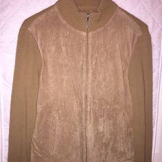 Tan Suede Jacket/Top Stretchy sz 10 Co & Eddy Jackets & Coats