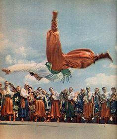 Gopak Dancer, Ukraina. Foto di Nikolai Kozlovsky, 1960