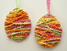 #Tutorial for Yarn Easter Egg Craft for Kids very easy to make!