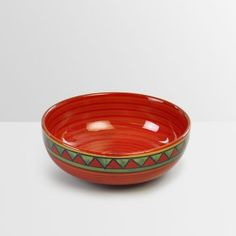Cultural Concepts Trian Red And Green Snacks Bowl