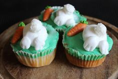 Hasen-Muffins (Hasen Po; Oster-Muffins, Easter Cupcakes)