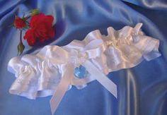 Touch of Blue Wedding Garter