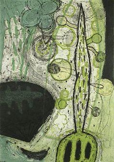 Akiko Taniguchi. The Origin of life 4, 1999. Collagraph. Edition of 5. 30-7/8 x 21-3/4 inches.